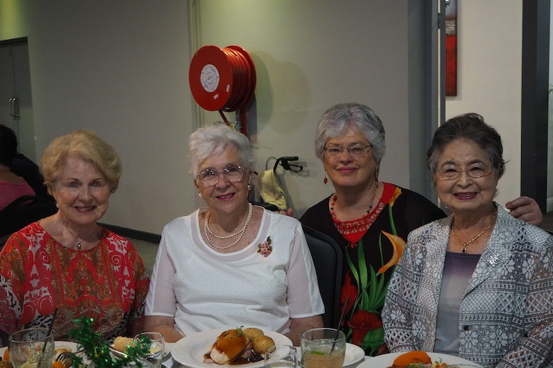 Yvonne Treuen, Marg Morris, Christine Stopford and Fudeko Reekie.