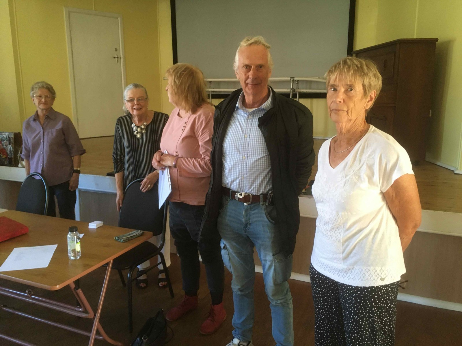 Lynette, Miriam, Allison, Peter and Sally -- the new Bathurst U3A committee.