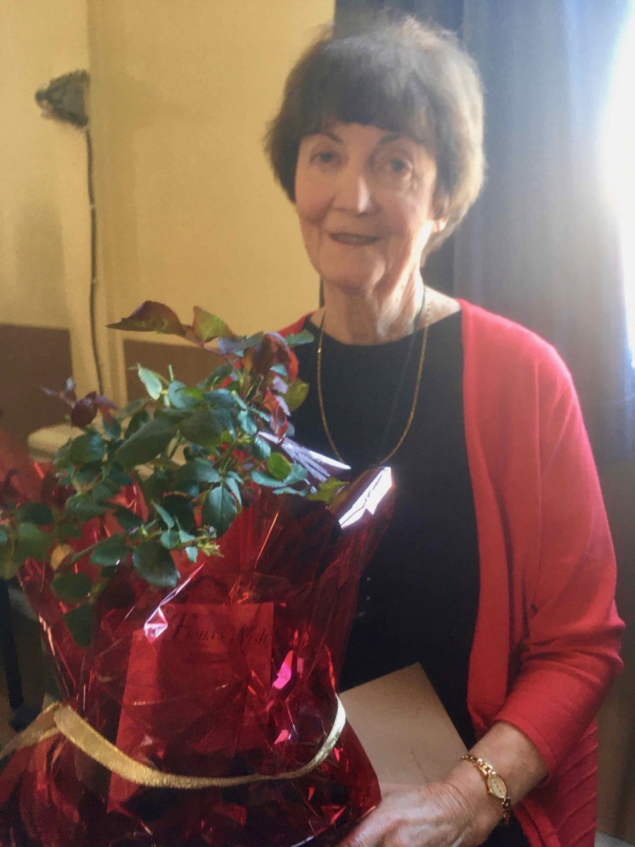 Lorraine, our retiring secretary