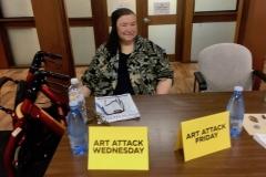 Facilitator for Art Attack Jenny Edmondson