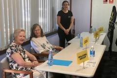 Kaye Price, Marilyn Zapel, and the D2F representative