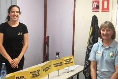 Larraine Griffin and the D2F representative