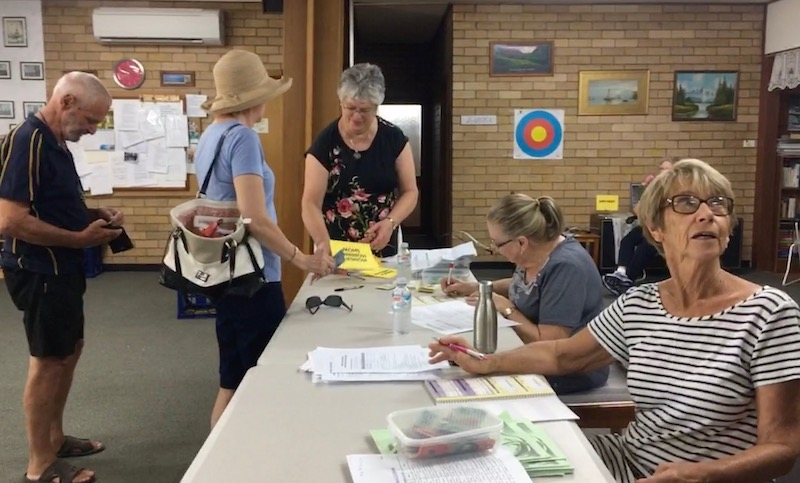 Chris, Miriam and Sally taking memberships and enrolments
