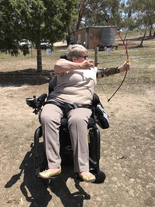 Irene Hancock at Archery